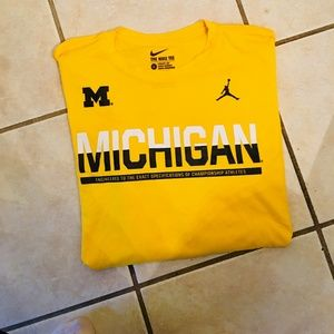 Mens Long Sleeve Michigan Shirt